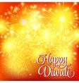 happy diwali festival lights fireworks on vector image