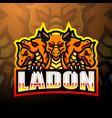ladon mascot esport logo design vector image vector image