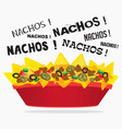 loaded cheese nacho with meat and jalapeno vector image vector image