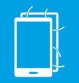 opened phone icon white vector image