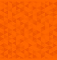 orange color low poly background triangular vector image vector image