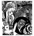 oriental motifs handmade vector image