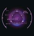 Pink infographics as head-up display vector image vector image