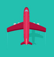 plane or airplane in the sky in flat style vector image vector image