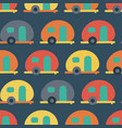 Retro camper van seamless pattern backdrop