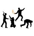riots vector image vector image