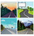 road to town outside highway street scenic vector image