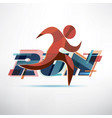 running people logo template sport and activity vector image vector image