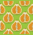 seamless pattern with orange tangelo vector image vector image