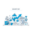 security key security of payment database vector image vector image