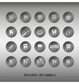 Set of dentistry symbols vector image