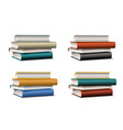 set stacks colorful books books various vector image vector image