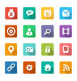 set trendy flat icons vector image