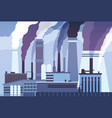 smog pollution industrial factory pipes heavy vector image vector image