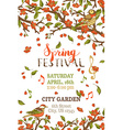 Spring festival template vector image