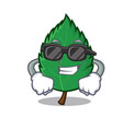 Super cool mint leaves character cartoon