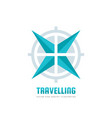 travelling - business logo template concept vector image
