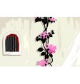 window and flower vector image