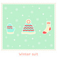 winter stuff vector image