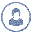 woman profile rounded fabric textured icon vector image vector image