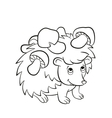 Little cute kind hedgehog has the mushrooms on the vector image