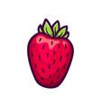 fresh strawberry icon isolated on white vector image