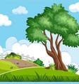 a beautiful nature landscape vector image