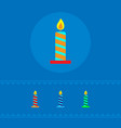 a set of colored festive candles the concept of a vector image vector image
