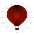 Air balloon birthday dot background vector image