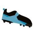 american football boot shoe spiked vector image
