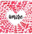 amore love in italian original custom hand vector image