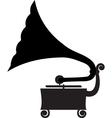 Antique gramophone vector image