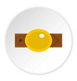 belt with gold oval shaped buckle icon circle vector image vector image
