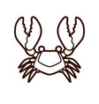 big crab graphic vector image vector image