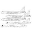 boeing b-52 stratofortress vector image vector image