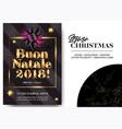 buon natale 2018 merry christmas in italian vector image vector image