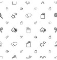 candy icons pattern seamless white background vector image vector image