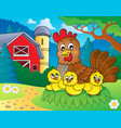 chicken theme image 5 vector image