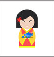 chinese woman in flat style vector image vector image