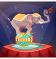 Circus Elephant Poster vector image vector image