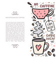 coffee handdrawn with space for your vector image vector image