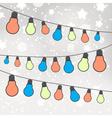 color light bulbs on gray bokeh background eps10 vector image vector image