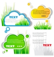 colorful grass speech sticker vector image