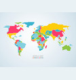 colorful map vector image vector image