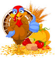 cute turkey vector image vector image