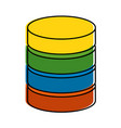 data center disk icon vector image vector image