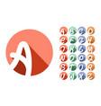 decorative font alphabet creative capital vector image