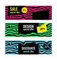 design abstract web banners sale special offer vector image vector image