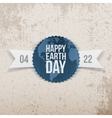 Earth Day realistic Banner with Ribbon vector image vector image