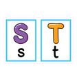 flash card alphabet colored alphabet vector image vector image